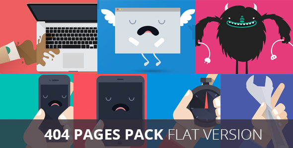 Pack 404 Flat Error Templates