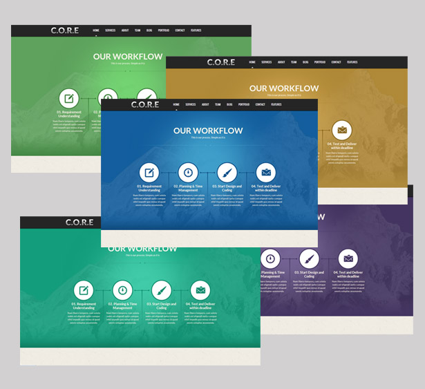 Core - One Page Responsive HTML5 Template - 7