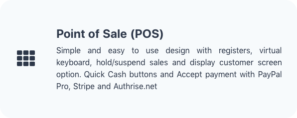 POS Features