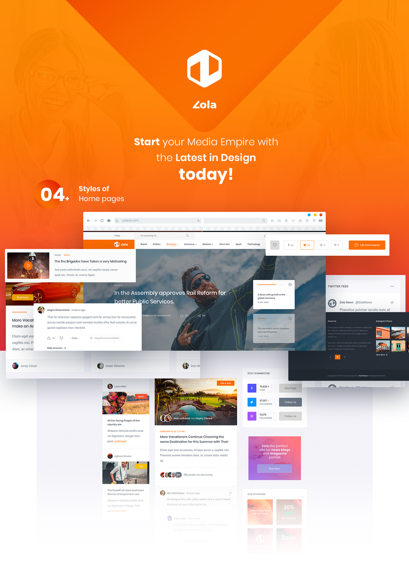 Zola | Magazine News HTML5 Template - 1