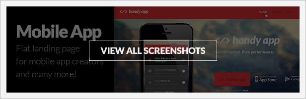 Multipurpose Flat Mobile App PSD Template screenshot previews