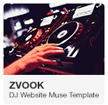 Zvook DJ Website Adobe Muse Template