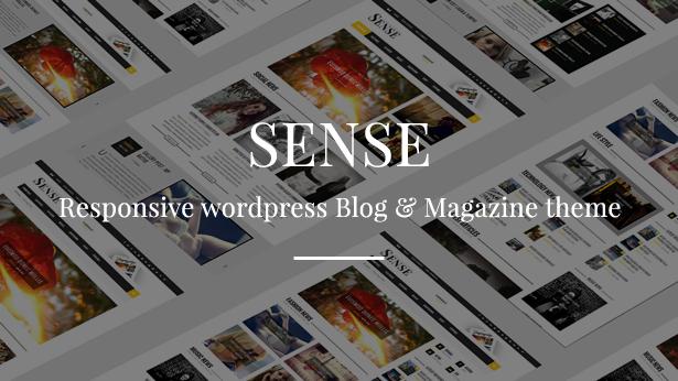 Sense - Responsive Blog Magazine and News Theme - 3