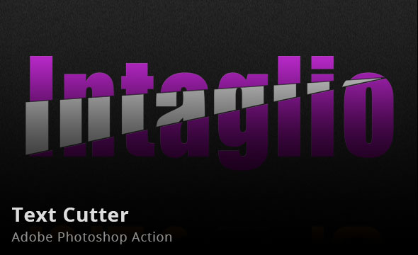 Text Cutter Photoshop Action