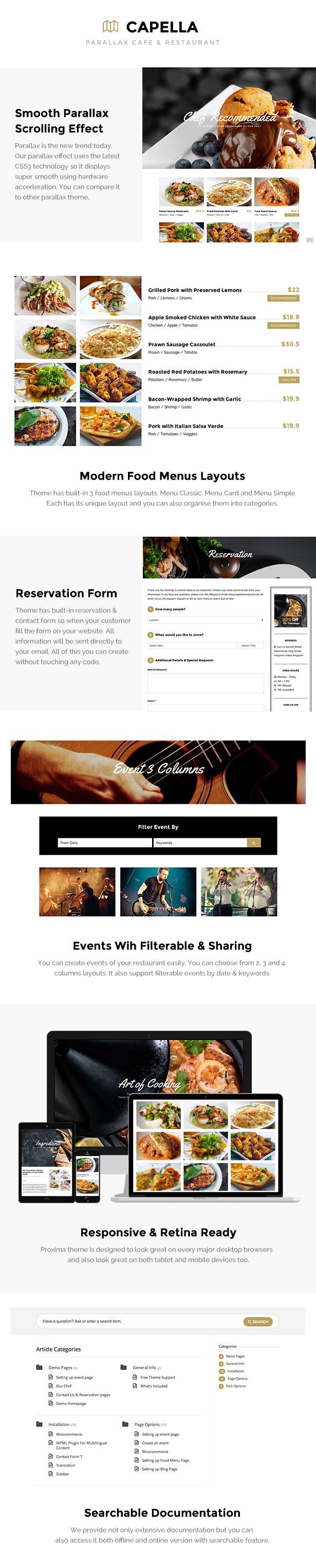 Restaurant WordPress - Capella for Restaurant