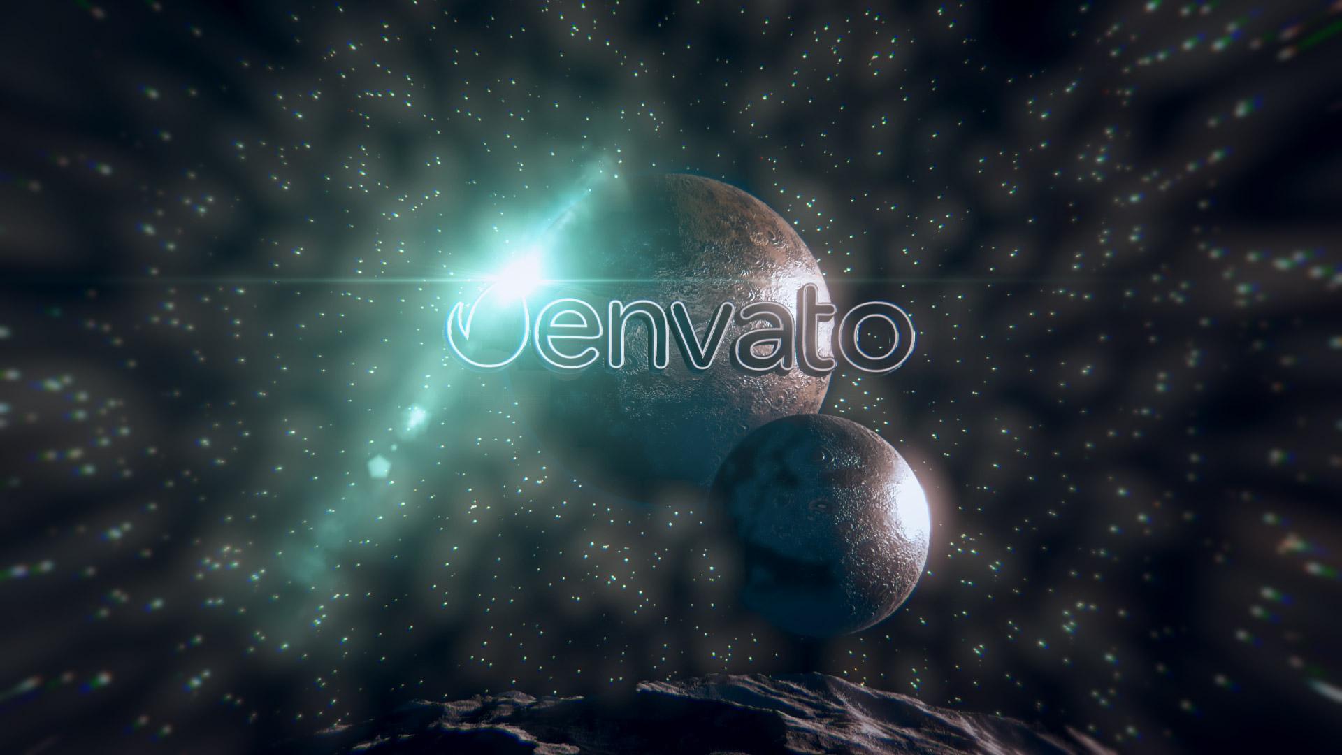 Space Glitch Logo - 2