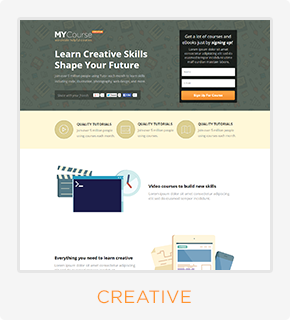 MYCourse - Pagewiz eCourse Landing Pages Pack - 6