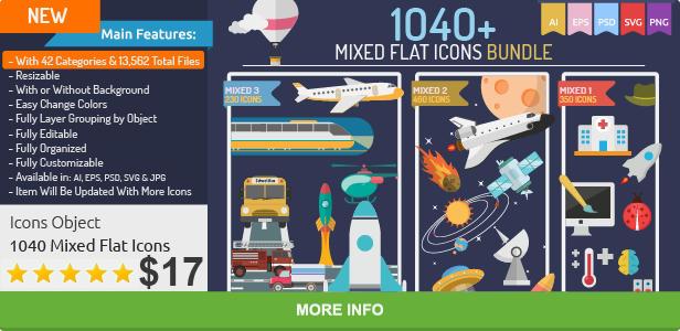 Mixed Flat Icons Bundle