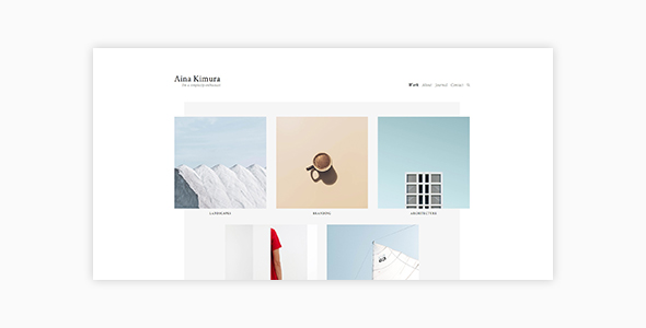 Aina - Minimal Photography and Portfolio WordPress Theme