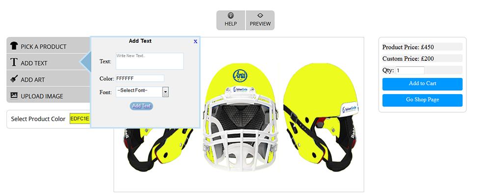 WooCommerce Custom Super Bowl Helmet Designer - 13
