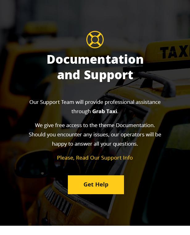Grab Taxi - Online Taxi Service WordPress Theme
