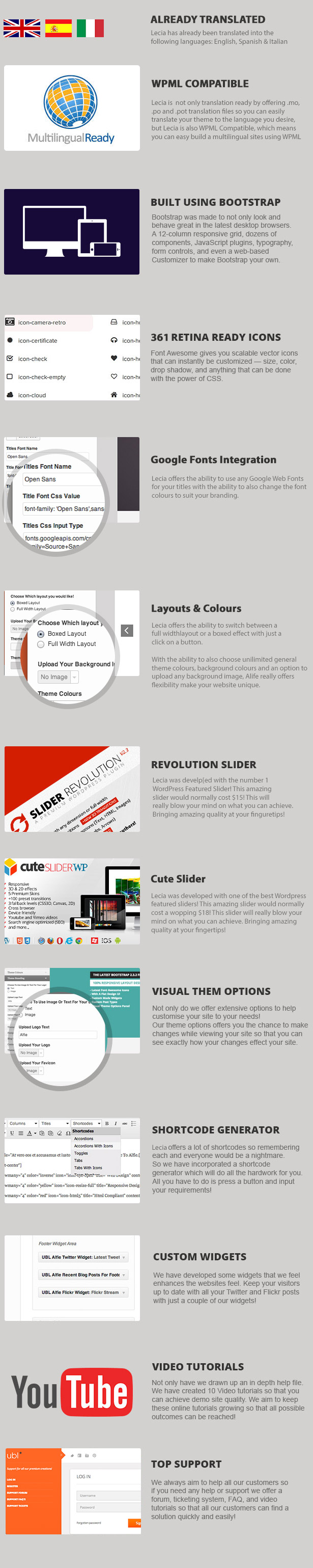 Lecia The Responsive Bootstrap WordPress Theme
