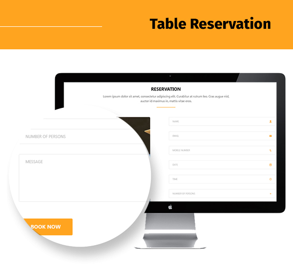restaurant-food-and-drink-template table reservation page