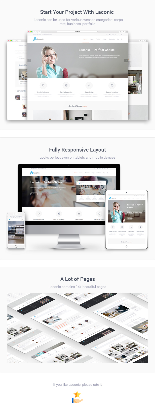 Laconic - Business/Corporate HTML5 Template by Gryndii | ThemeForest