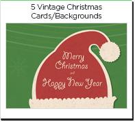 photo 5 vintage christmas cards