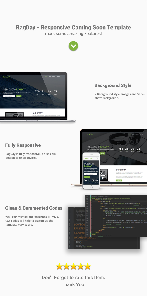 RagDay - Responsive Coming Soon Template