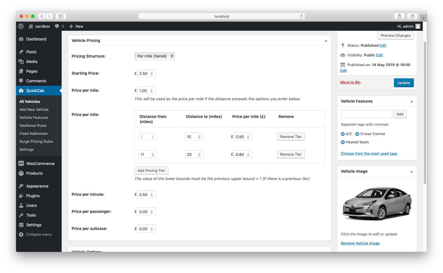 QuickCab: WooCommerce Taxi Booking Plugin - 4