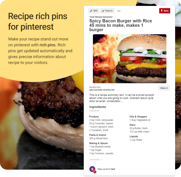 recipe rich pins