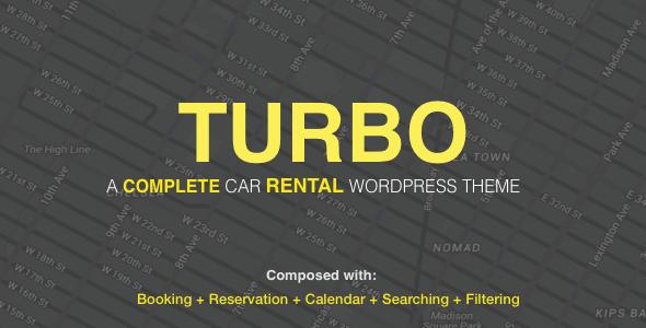 Turbo - Car Rental System WordPress Theme, WooCommerce Booking, car rental