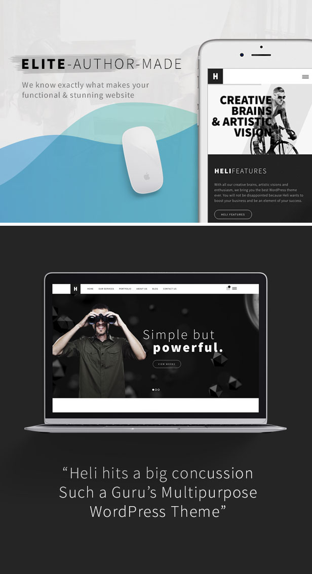 Minimal Creative Black and White WordPress Theme - Free life time updates to get more black and white layouts & fix bugs