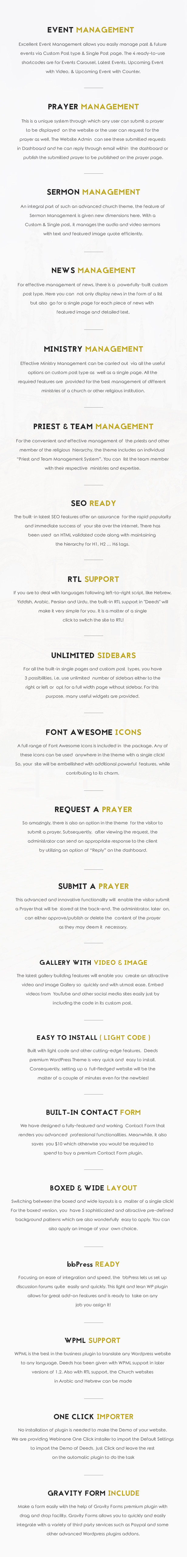 Deeds - Best Responsive Nonprofit Church WordPress Theme - 4