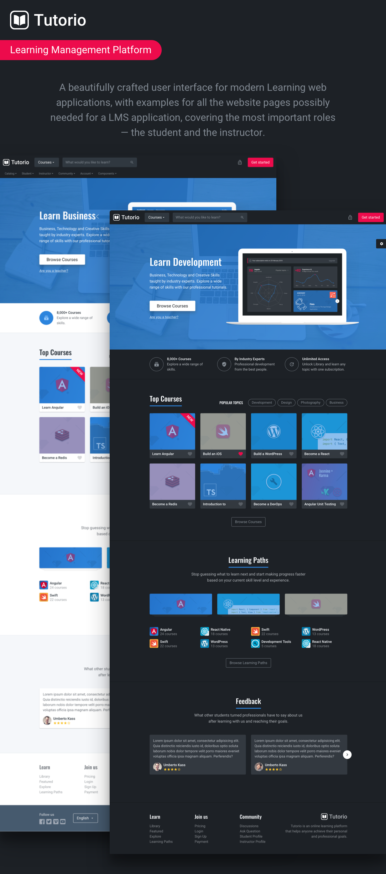 Tutorio Education Platform And Learning Management System By Frontendmatter