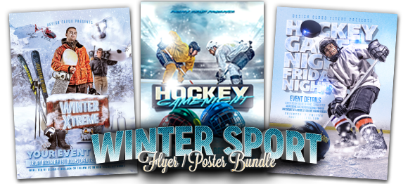 Hockey Game Night Flyer Template by Design-Cloud | GraphicRiver