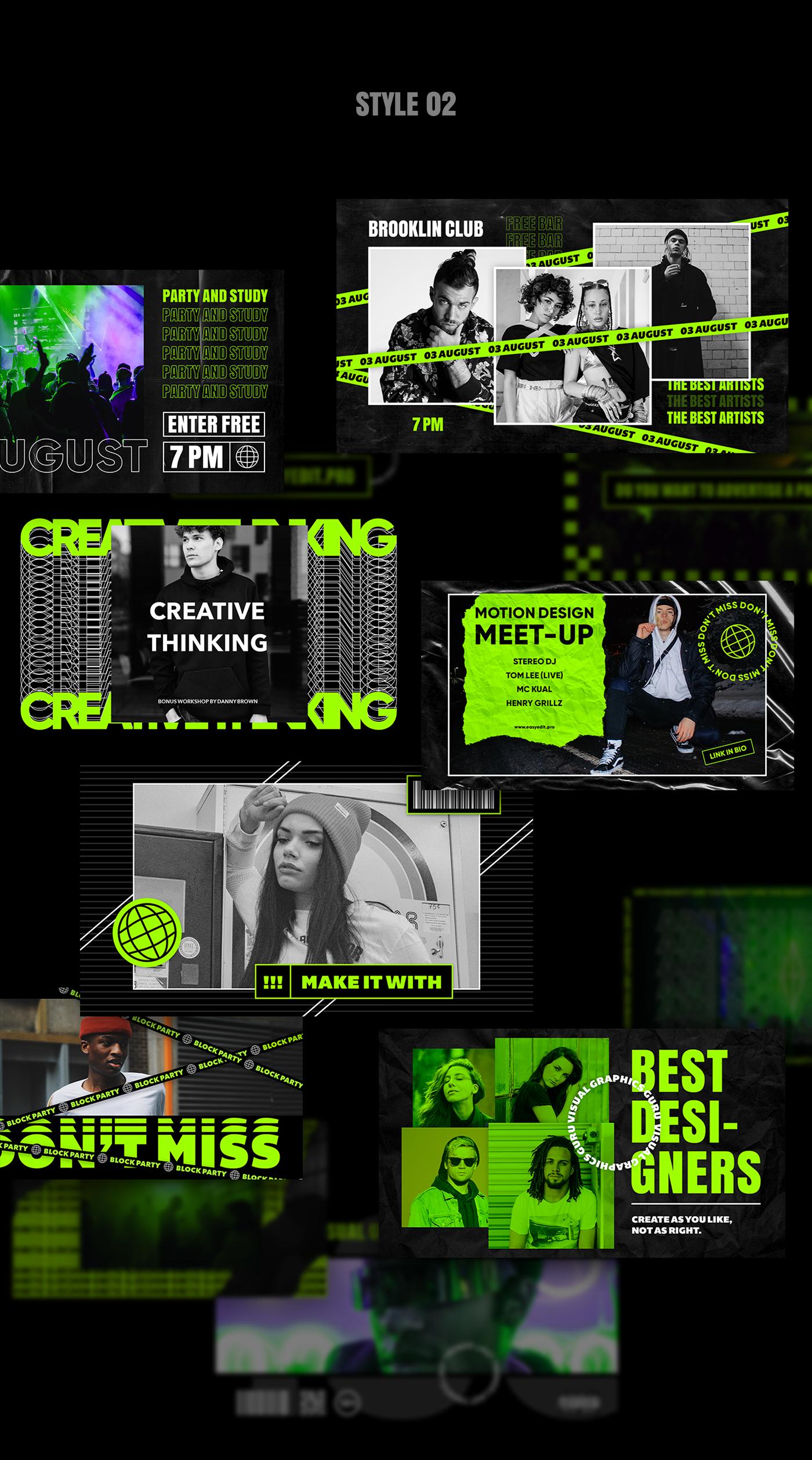 AE脚本-200多个创意文字标题排版时尚宣传视频包装动画工具包 Kinetic Social Pack for Win/Mac破解版插图9