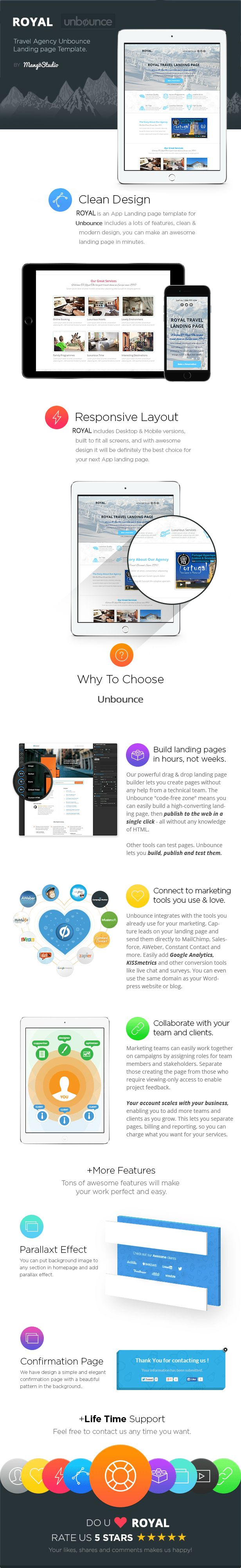 ROYAL - Travel Agency Unbounce Template - 4