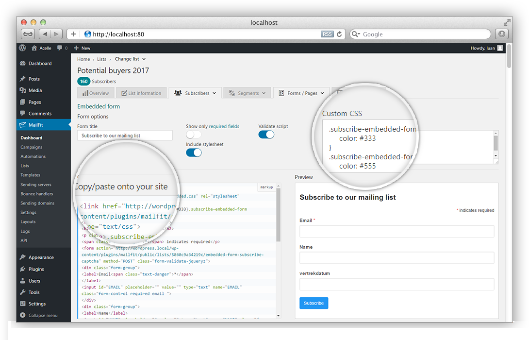 MailFit - Newsletter Plugin for Wordpress - 5
