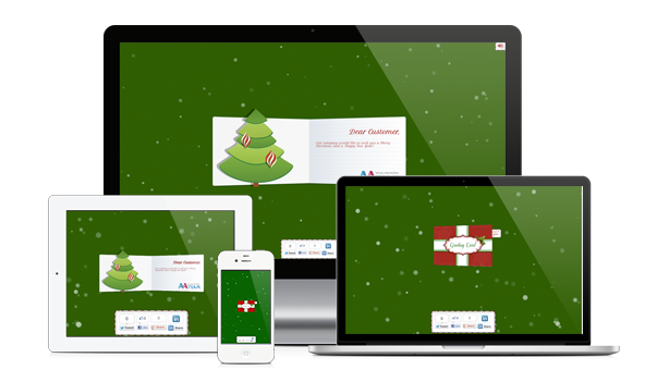 Business Christmas Greeting Card - WP Plugin - 3