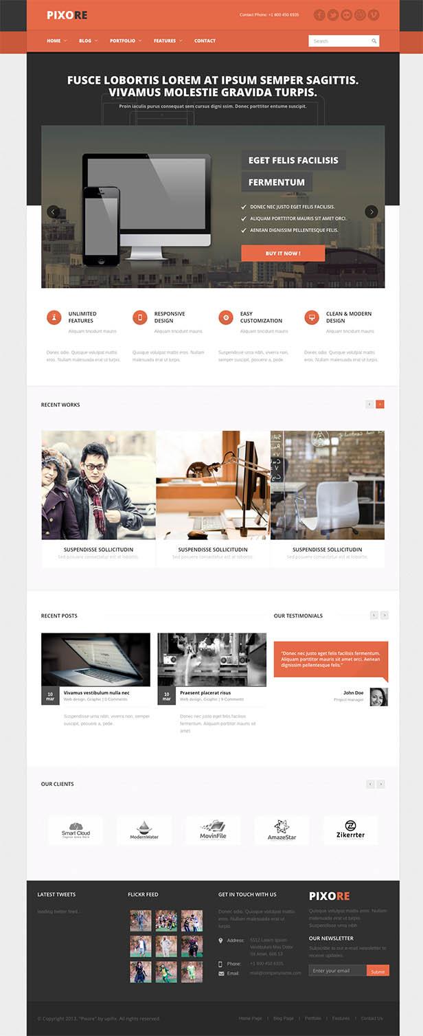 Pixore - Responsive Multi-Purpose HTML5 Template - 9