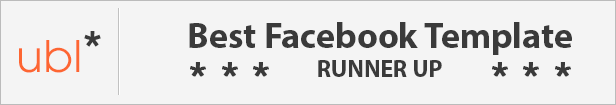 Runner Up Of The Best Facebook Template