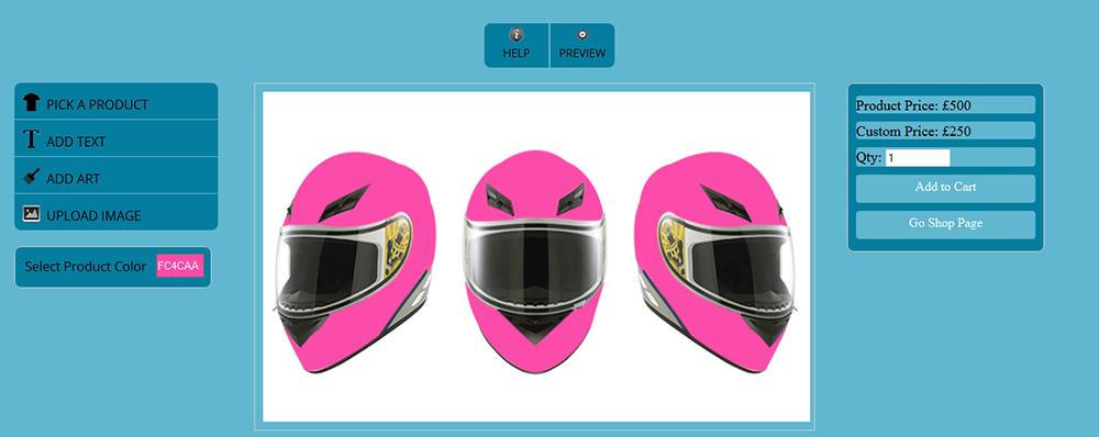 WooCommerce Custom Super Bowl Helmet Designer - 17