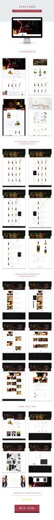 VINEYARD - E-Commerce and Blog PSD Theme - 1