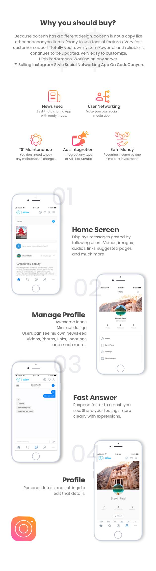 Instagram app source code download free