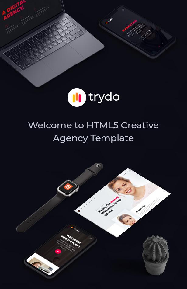 Trydo - Creative Agency and Portfolio Bootstrap Template - 5