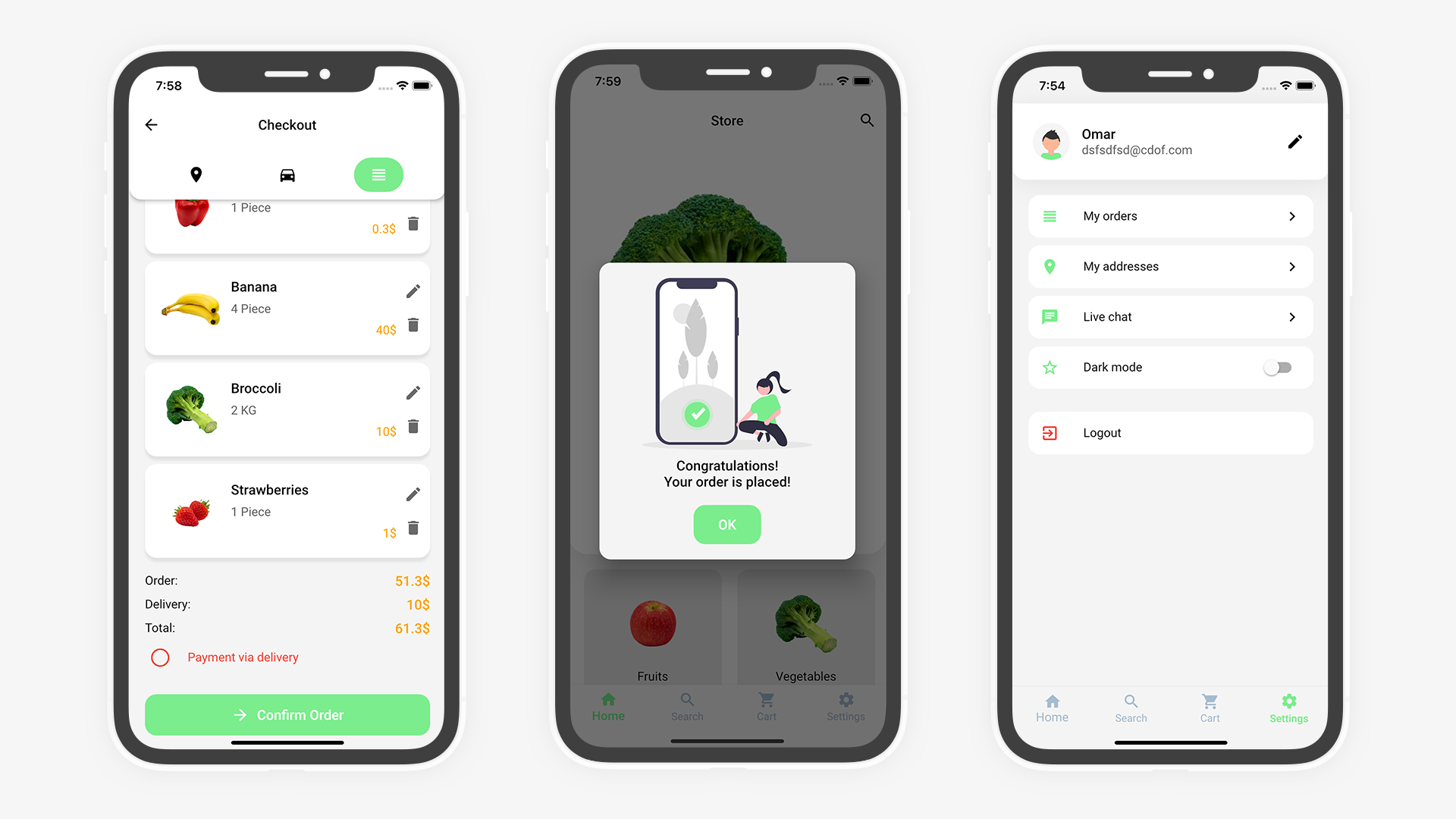 Flutter Grocery: Full Android + iOS eCommerce App - 19