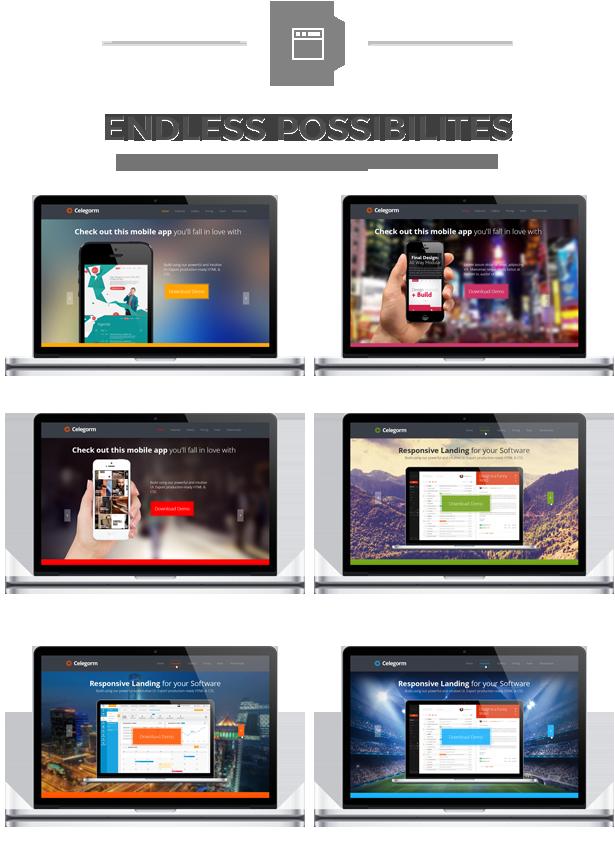 Celegorm Software/App Bootstrap Landing Page - 8