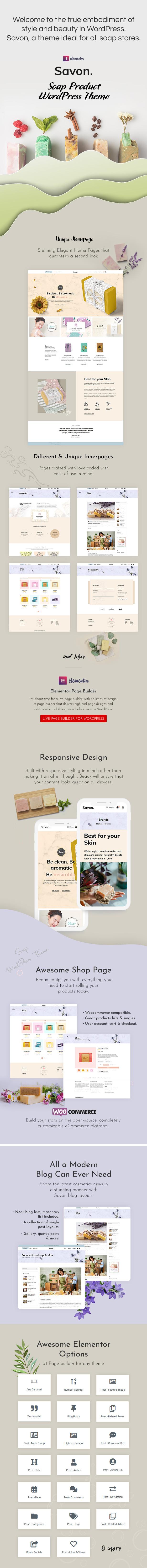 Savon - Handmade Soap, Cosmetics Beauty Shopify Theme - 1