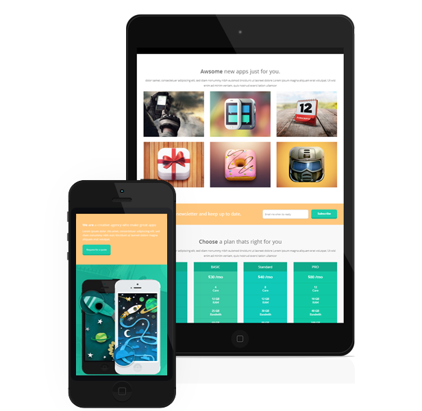 ReflexApps - Responsive landing Page Template - 2