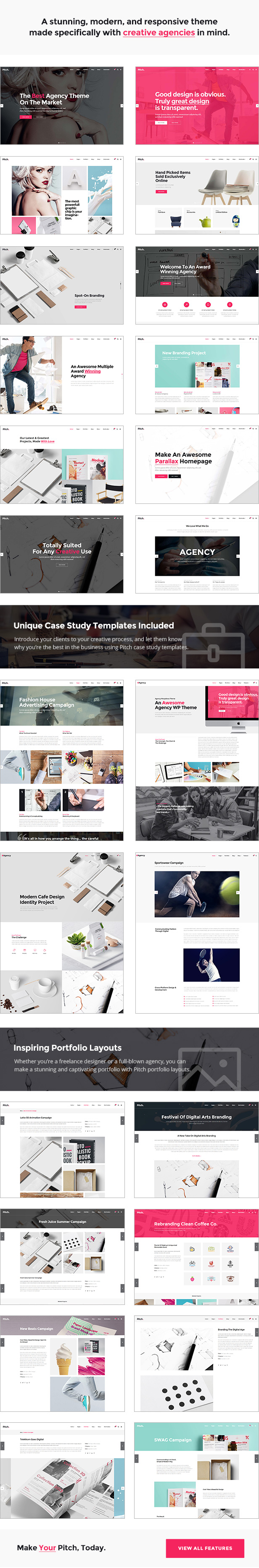 Pitch - A Theme for Freelancers and Agencies - 1