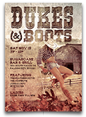 Dukes and Boots Country Flyer Template