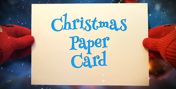 Christmas Paper Card - 1