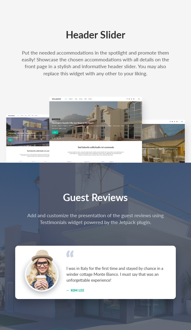 Vacation Rental WordPress Theme - Villagio - 8