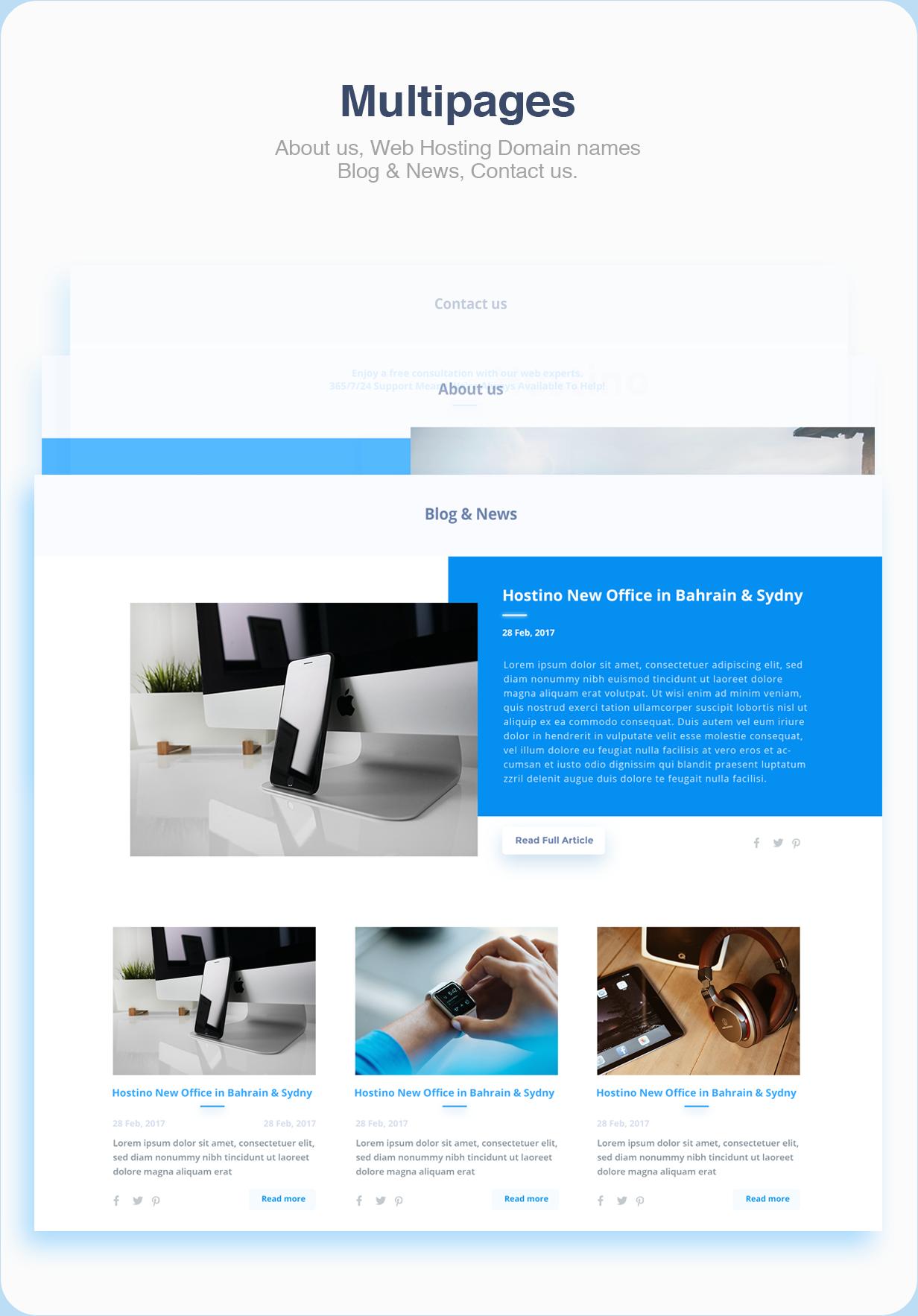 Hostino WHMCS Web Hosting WordPress Theme - 9