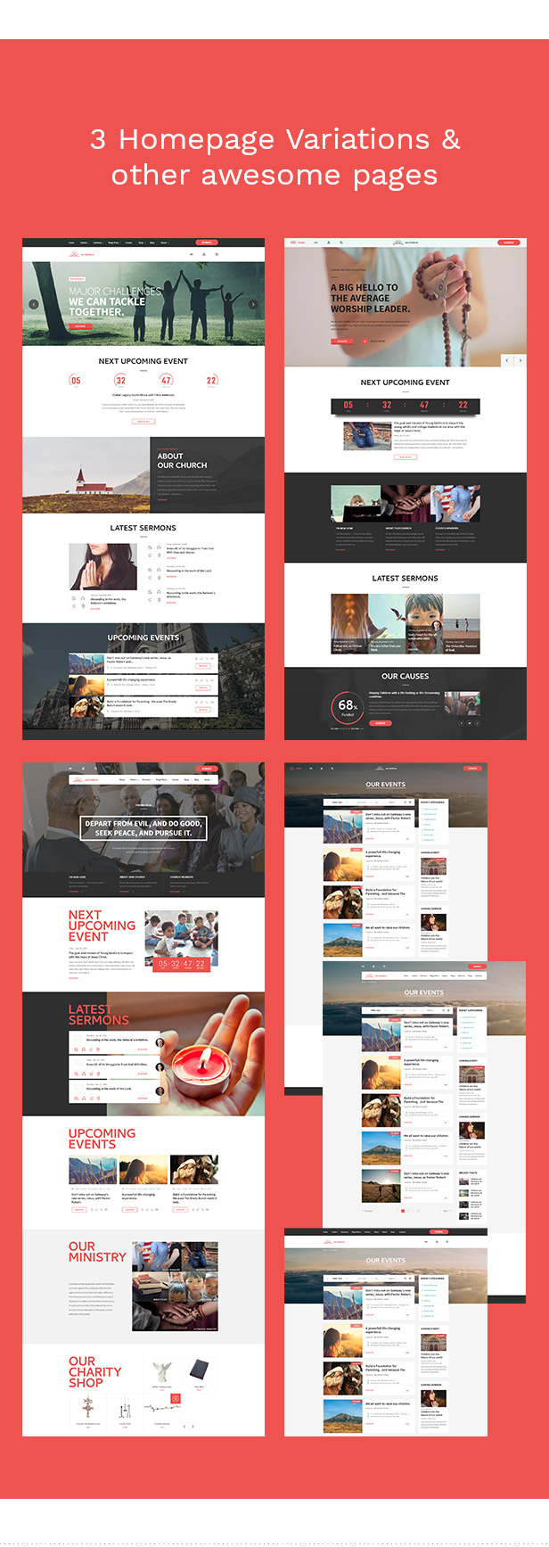 WeBelieve - Church, Charity, Nonprofit & Fundraising Responsive HTML5 Template - 9