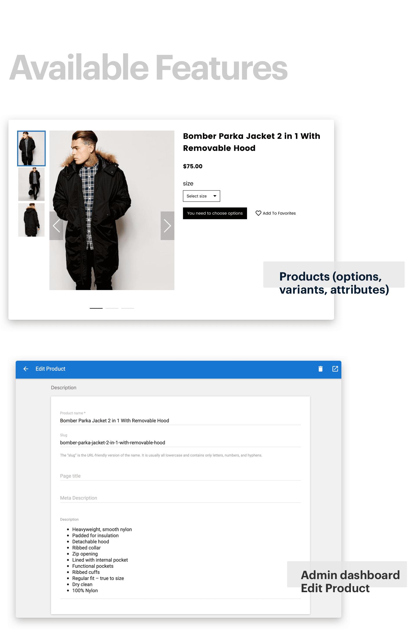 CeStore - ReactJS web app & React Native mobile app for e-commerce - 10