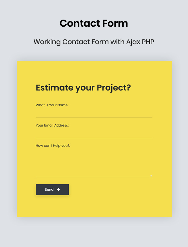 working contact form with ajax php