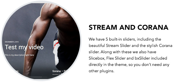 Stream and Corana Slider